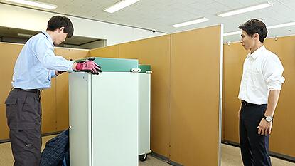 当社回収専門スタッフがピコリコボックスを回収に伺います。